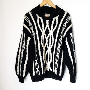 Vintage Cableknit Oversized 90's Style Sweater